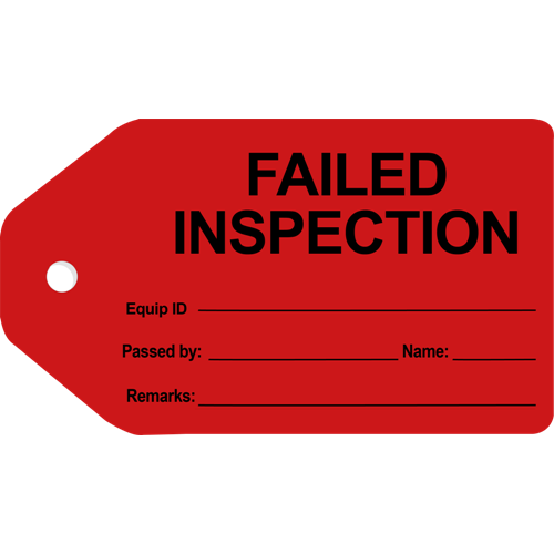 Inspection FailedInspection