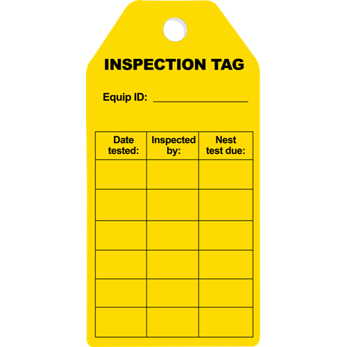 Inspection InspectionTag