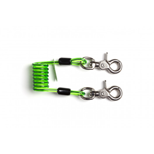 NLG Short Coiled Tool Lanyard Quick Clip 02