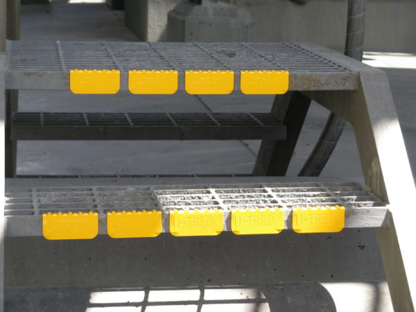 U-Tred Anti Slip Safety Stair Nosing - Yellow